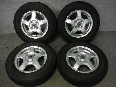 ブリヂストン・VRX/13インチ・スタッドレスタイヤ・&アルミホイール/4本セット