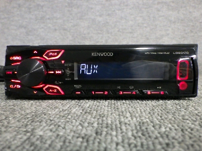 KENWOOD U393MS / CD・フロントUSB AUX / 1DIN オーディオ